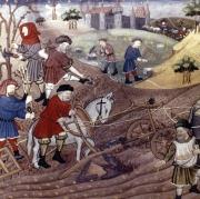 Des paysans au Moyen Âge