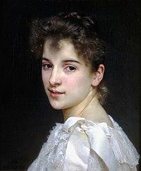 Portrait de Gabrielle Cot, fille de Pierre Auguste Cot, par William Bouguereau (1890). (définition réelle 1908×2304)