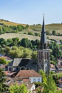 L'abbatiale Saint-Géraud d'Aurillac, en Auvergne. (définition réelle 3299×4949)
