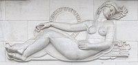 Bas-relief par Alphonse Darville en 1958 au Mont des Arts à Bruxelles. (définition réelle 3359×1586)